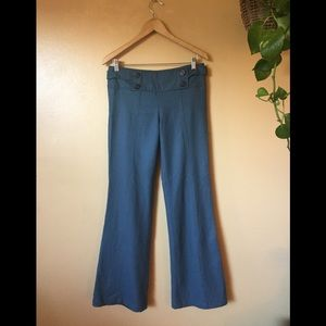 Sanctuary Anthropologie Wool blend blue trousers